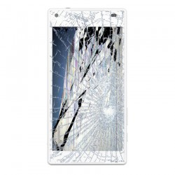 [Réparation] Bloc Avant ORIGINAL Blanc - SONY Xperia Z5 Compact - E5803 / E5823