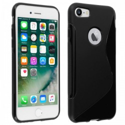 Coque Silicone S-Line Noire - iPhone 7 / iPhone 8