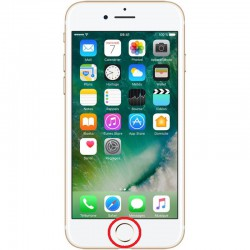 [Réparation] Nappe de Bouton HOME Blanc / Or ORIGINALE - iPhone 7 Plus