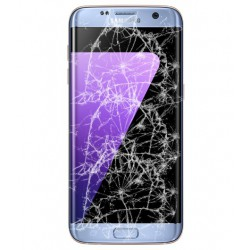 [Réparation] Bloc Avant ORIGINAL Bleu Corail - SAMSUNG Galaxy S7 Edge - G935F