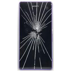 [Réparation] Bloc Avant ORIGINAL Violet - SONY Xperia Z3 - D6603 / D6643 / D6653
