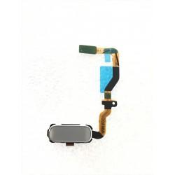 Bouton HOME Argent / Gris + Lecteur d'empreinte Digital ORIGINAL - SAMSUNG Galaxy S7 - SM-G930F