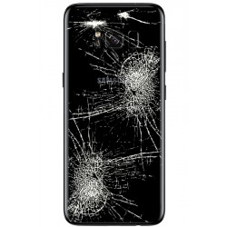 [Réparation] Vitre Arrière ORIGINALE Noire Carbone - SAMSUNG Galaxy S8 - SM-G950F