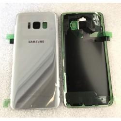 Vitre Arrière ORIGINALE Grise / Argent - SAMSUNG Galaxy S8 - SM-G950F