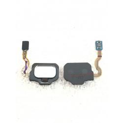 Bouton HOME Argent Polaire / Gris + Lecteur d'empreinte Digital ORIGINAL - SAMSUNG Galaxy S8 / SM-G950F - S8+ / SM-G955F