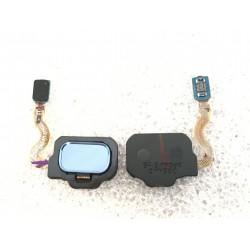 Bouton HOME Bleu Océan + Lecteur d'empreinte Digital ORIGINAL - SAMSUNG Galaxy S8 / SM-G950F - S8+ / SM-G955F