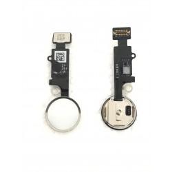 Nappe de bouton HOME Blanc / Argent Complète + Touch ID ORIGINAL - iPhone 7 / 7 Plus