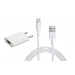 [PACK] Chargeur Secteur ORIGINAL + Câble Lightning / USB 2m ORIGINAL - APPLE