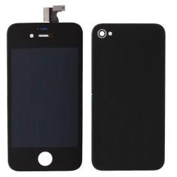 FORFAIT Bloc Avant Compatible Noir / Vitre Arrière Noire - iPhone 4