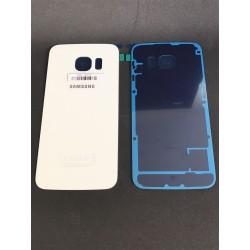 Vitre Arrière ORIGINALE Blanche - SAMSUNG Galaxy S6 Edge G925F