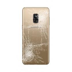 [Réparation] Vitre Arrière ORIGINALE Or Topaze - SAMSUNG Galaxy A8 2018 / SM-A530F/DS Double SIM