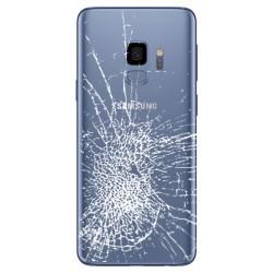[Réparation] Vitre Arrière ORIGINALE Bleue Corail - SAMSUNG Galaxy S9 / SM-G960F