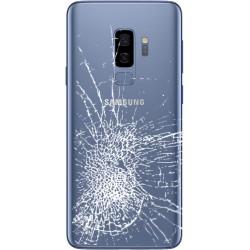[Réparation] Vitre Arrière ORIGINALE Bleue Corail - SAMSUNG Galaxy S9+ / SM-G965F/DS Double SIM