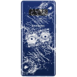 [Réparation] Vitre Arrière ORIGINALE Bleue Roi - SAMSUNG Galaxy Note8 / SM-N950FD Double SIM
