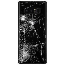 [Réparation] Vitre Arrière ORIGINALE Noire Carbone - SAMSUNG Galaxy Note8 / SM-N950FD Double SIM