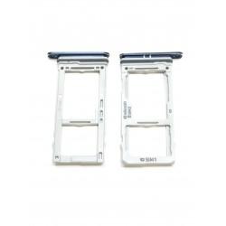 Tiroir de carte double sim et carte SD Bleu Corail ORIGINAL - SAMSUNG Galaxy S9 / SM-G960F