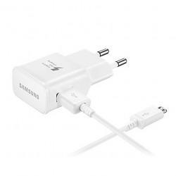 [PACK] Chargeur Secteur Rapide + Câble Micro USB ORIGINAL Blanc - SAMSUNG