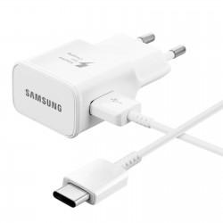 [PACK] Chargeur Secteur Rapide + Câble USB / USB Type C ORIGINAL Blanc - SAMSUNG
