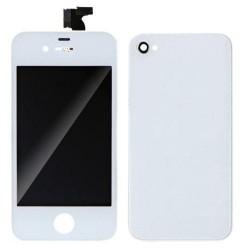 FORFAIT Bloc Avant Compatible Blanc / Vitre Arrière Blanche - iPhone 4S