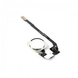Nappe de bouton HOME Blanc / Argent Complète + Touch ID ORIGINAL - iPhone 5S / SE