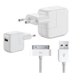 [PACK] Chargeur Secteur ORIGINAL 12W + Câble 30 Broches / USB ORIGINAL - APPLE