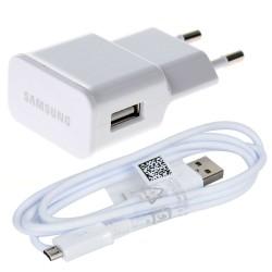 [PACK] Chargeur Secteur + Câble Micro USB ORIGINAL Blanc - SAMSUNG