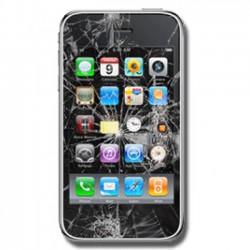 [Réparation] Vitre Tactile Noire + Adhésifs - iPhone 3G