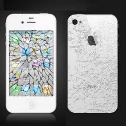 [Réparation] Bloc Avant Compatible BLANC / Vitre Arrière Blanche - iPhone 4