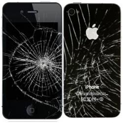 [Réparation] Bloc Avant Compatible NOIR / Vitre Arrière Noire - iPhone 4