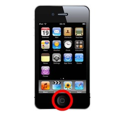 [Réparation] Bouton HOME Complet Noir - iPhone 4S