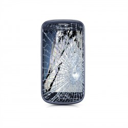 [Réparation] Bloc Avant ORIGINAL Bleu - SAMSUNG Galaxy S3 Mini - i8190