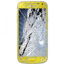[Réparation] Bloc Avant ORIGINAL Jaune - SAMSUNG Galaxy S4 Mini - i9195