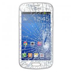 Forfait Réparation Vitre Tactile ORIGINALE Blanche + Adhésifs - SAMSUNG Galaxy TREND LITE - S7390