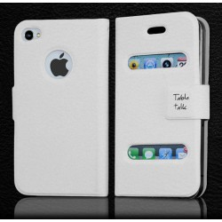 Etui Table Talk BLANC - iPhone 4 / 4S