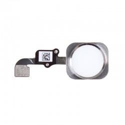 Nappe de bouton HOME Blanc / Argent Complète + Touch ID ORIGINAL - iPhone 6S - iPhone 6S Plus