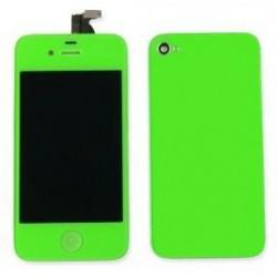 [KIT] Bloc Avant Compatible Vert / Vitre Arrière Verte - iPhone 4
