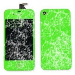 [Réparation] [KIT] Bloc Avant Compatible Vert / Vitre Arrière Verte - iPhone 4