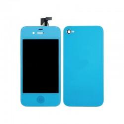 [KIT] Bloc Avant Compatible Bleu Ciel / Vitre Arrière Bleu Ciel - iPhone 4