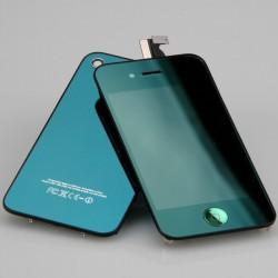 [KIT] Bloc Avant Compatible Vert Miroir / Vitre Arrière Vert Miroir - iPhone 4
