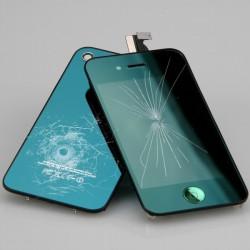 [Réparation] [KIT] Bloc Avant Compatible Vert Miroir / Vitre Arrière Vert Miroir - iPhone 4
