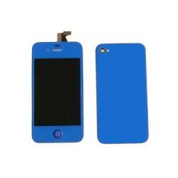 [KIT] Bloc Avant Compatible Bleu Nuit / Vitre Arrière Bleu Nuit - iPhone 4S