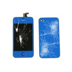 [Réparation] [KIT] Bloc Avant Compatible Bleu Nuit / Vitre Arrière Bleu Nuit - iPhone 4S