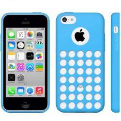 Coque Silicone Bleue - iPhone 5C
