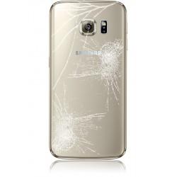 Forfait Réparation Vitre Arrière Cache Batterie Or ORIGINAL - SAMSUNG Galaxy S6 Edge Plus G928F