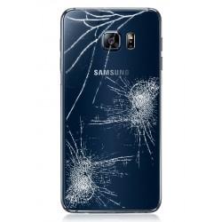 Forfait Réparation Vitre Arrière Cache Batterie Bleu / Noir ORIGINAL - SAMSUNG Galaxy S6 Edge Plus G928F