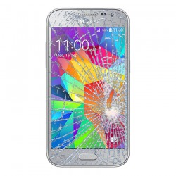 [Réparation] Vitre Tactile ORIGINALE Argent + Adhésifs - SAMSUNG Galaxy CORE Prime VE - G361F