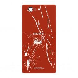 [Réparation] Vitre Arrière ORIGINALE Rouge - SONY Xperia Z3 Compact - D5803 / D5833